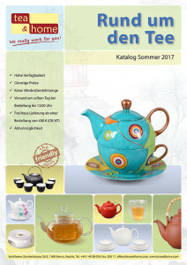 Katalog mit Teekannen aus Gusseisen