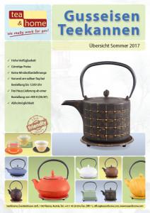 Cover Katalog Gusseisen Teekannen bei tea&home