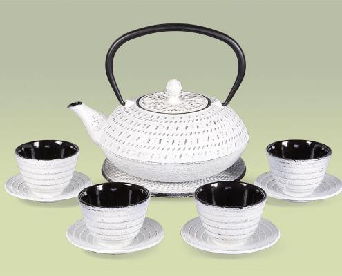 Teekanne aus Gusseisen 1,2 Liter im Set