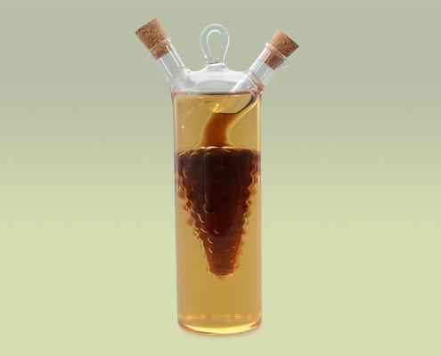 Glasflasche für Essig und Öl