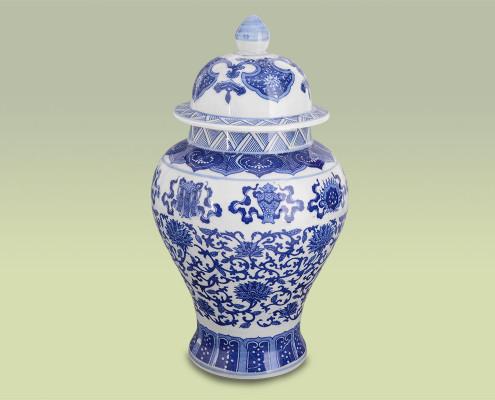 Vase aus Keramik mit Deckel 37,5cm hoch
