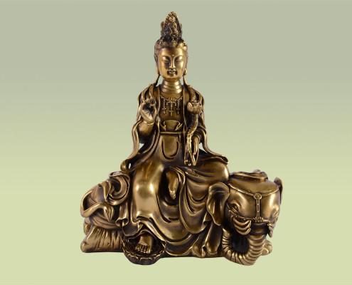Figur aus Bronze