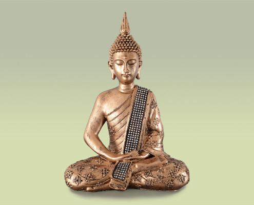 Figur aus Polyresin, Buddha