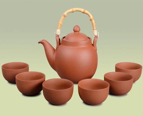 Teekanne aus Ton