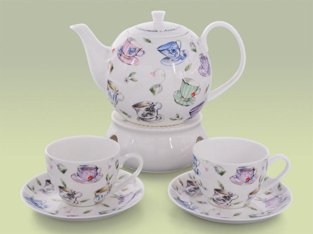 Teekanne Porzellan Mit Stövchen tea and home buchensee porzellan